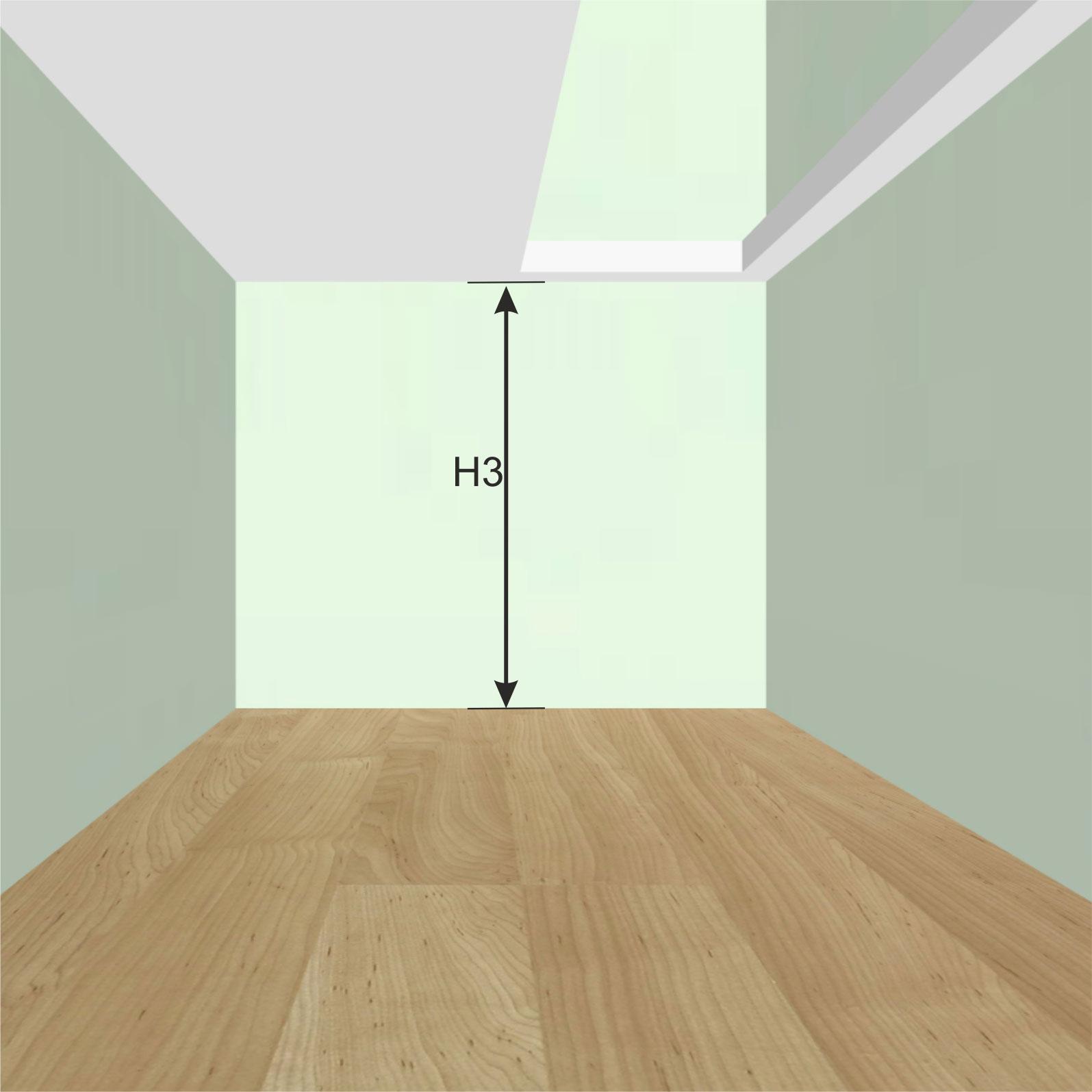 Высота от пола 1-го этажа до потолка