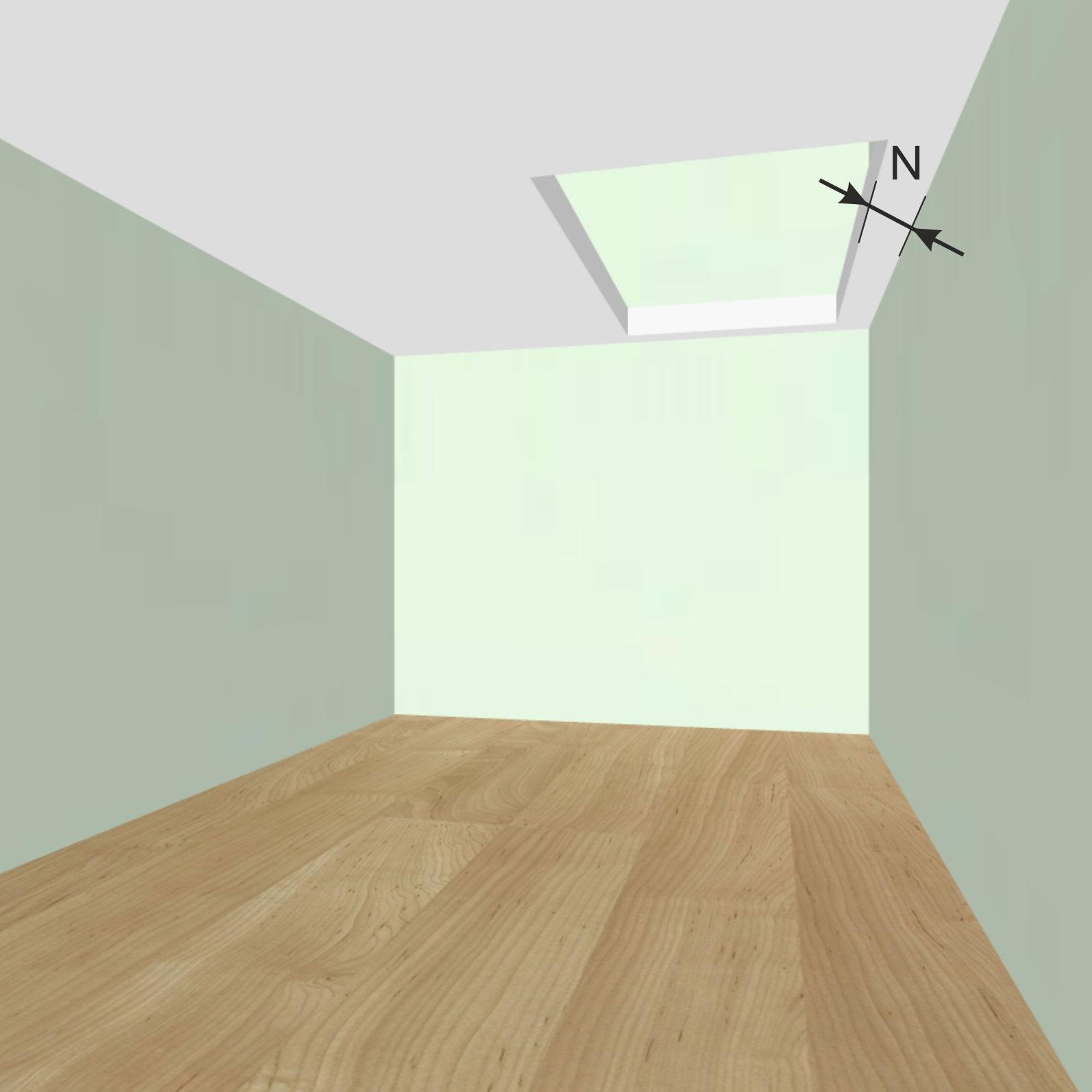 Расстояние от стен 1-го этажа до начала проема в межэтажном перекрытии N